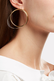 Loewe Gold and silver-tone hoop earrings