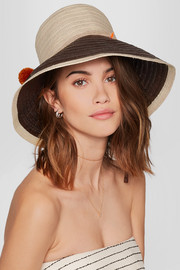 Palomino pompom-embellished toquilla straw hat