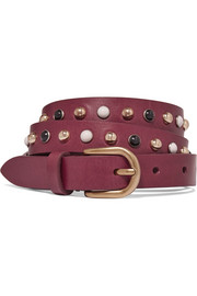 Kinley studded leather belt