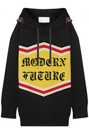 Gucci Modern Future sequin-embellished cotton jacquard-knit hooded top