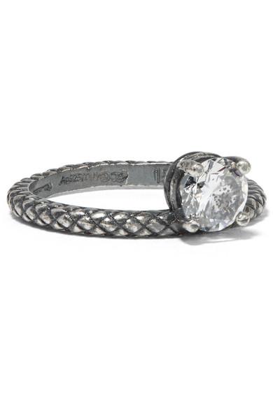 Silver Cubic Zircon Ring Bottega Veneta gaZB7YO