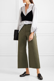 T by Alexander Wang Stretch-cotton twill culottes
