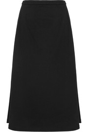 Cotton-jersey midi skirt