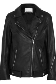 T by Alexander Wang Oversized leather biker jacket