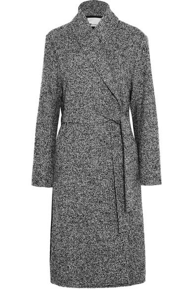T by Alexander Wang - Wool-blend Bouclé Coat - Black