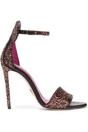 Minnie glittered leather sandals