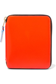 Super Fluo neon leather wallet