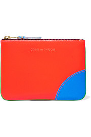 Neon leather wallet