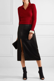 Esteban Cortazar Ribbed stretch-knit sweater