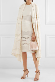 Esteban Cortazar Cotton-blend crochet-knit cape