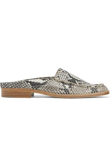 GABRIELA HEARST Woman Python Slippers Size 36 aCe2fC0HR