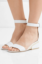 Sydney leather wedge sandals