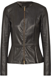 Anasta stretch-leather jacket
