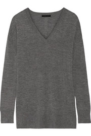 Amherst cashmere and silk-blend sweater