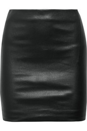 Loattan stretch-leather mini skirt