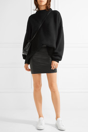 The Row Loattan stretch-leather mini skirt