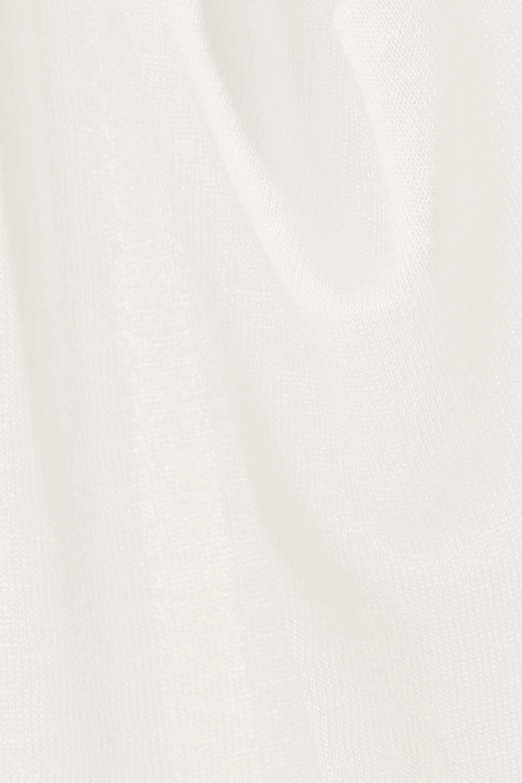 The Row Stilton silk-trimmed jersey T-shirt