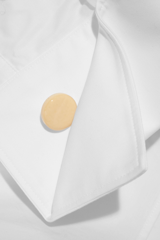 Jacquemus Off-the-shoulder cotton-piqué shirt
