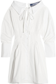 Jacquemus Pintucked cotton mini dress