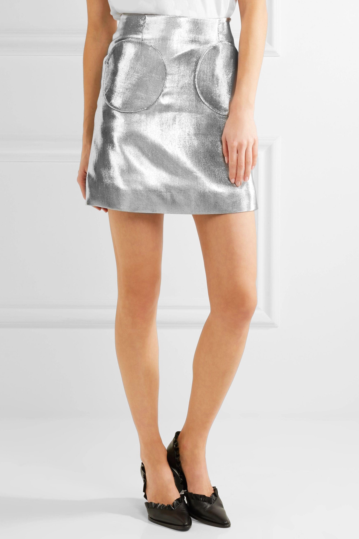 Isa Arfen Lamé mini skirt