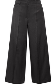 Wool and silk-blend culottes