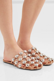 Amelia studded suede slippers
