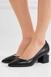 Simona cutout leather pumps
