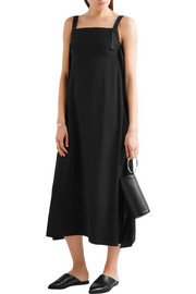 Helmut Lang Tie-back crepe midi dress