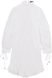Priest lace-up cotton-poplin dress