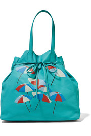Minca printed leather tote