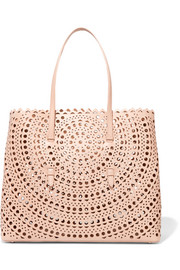Vienne large laser-cut leather tote