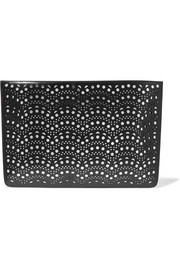 Alaïa Laser-cut leather pouch