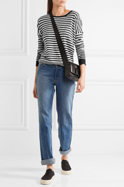 Striped cotton, silk and cashmere-blend sweater