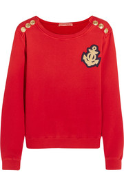 Pierre Balmain Appliquéd cotton-jersey sweatshirt