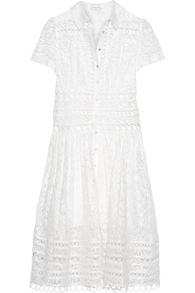 zimmermann female zimmermann winsome cottonblend lace midi dress ivory