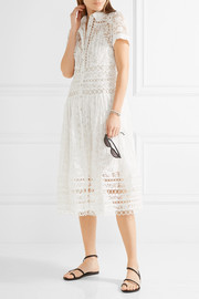 Zimmermann Winsome cotton-blend lace midi dress