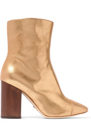 Brother Vellies Bianca metallic brushed-leather ankle boots