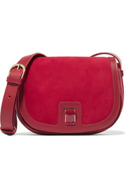 Dylan leather and suede shoulder bag