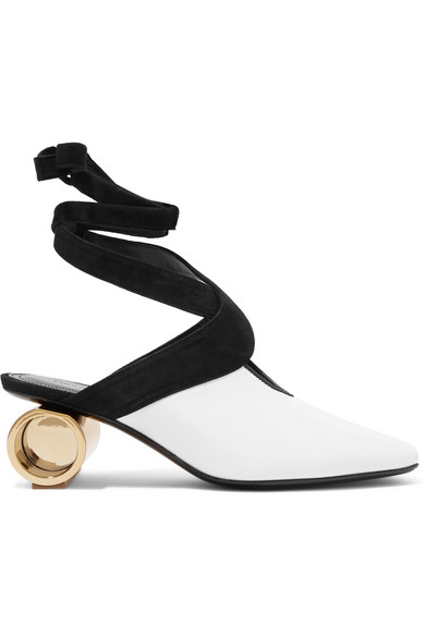 J.W.Anderson - Suede-trimmed Leather Pumps - White