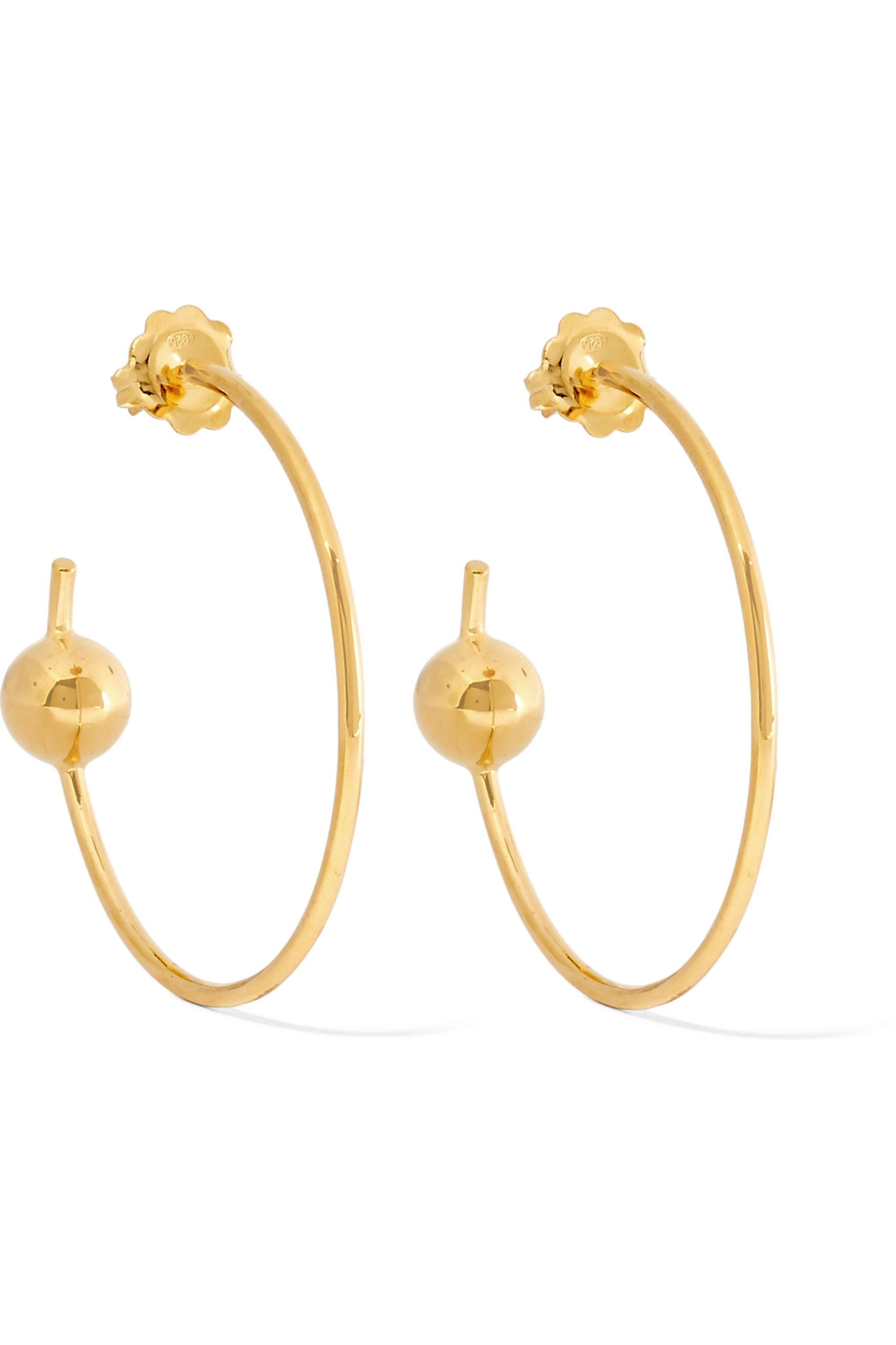 Maria Black Orion Maxi gold-plated hoop earrings