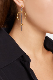 Maria Black Hydra Medi gold and rhodium-plated earring