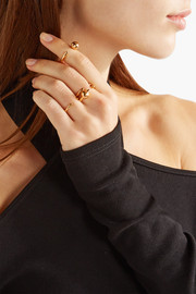 Maria Black Set of two gold-plated rings