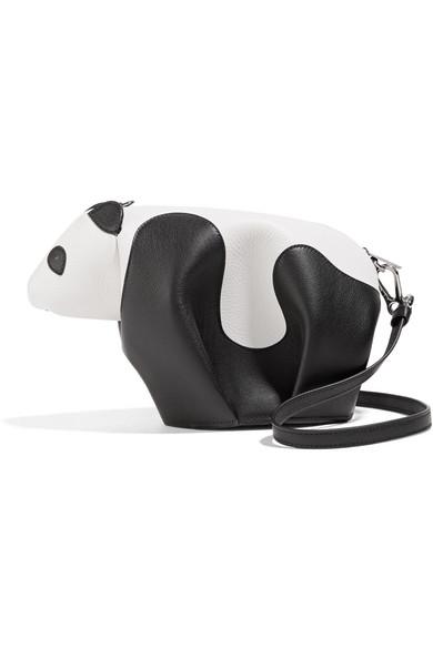 Loewe - Panda Leather Shoulder Bag - White