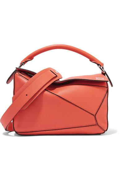 Loewe - Puzzle Small Leather Shoulder Bag - Orange