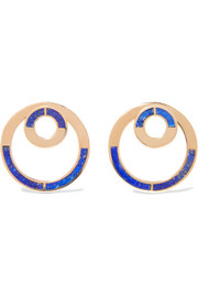 Pamela Love Quarter gold-tone lapis lazuli earrings