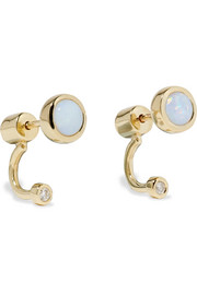 Pamela Love Gravitation gold, opal and diamond earrings