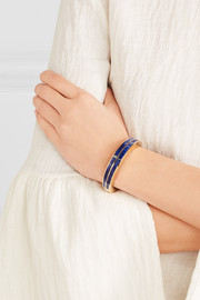 Pamela Love Inlay Cross gold-tone lapis lazuli cuff