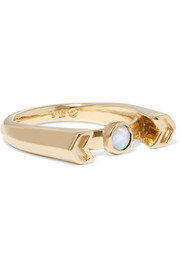 Pamela Love Chevron Reveal gold opal ring