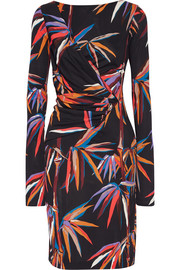 Printed stretch-jersey dress