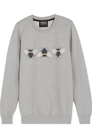 Markus Lupfer Bumble embroidered printed cotton sweatshirt